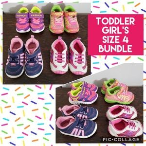 Other - 🎀 Bundled Lot of 4 Pair Little Girl Shoes Size 4